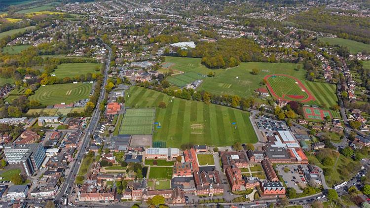 Brentwood School aerial shot